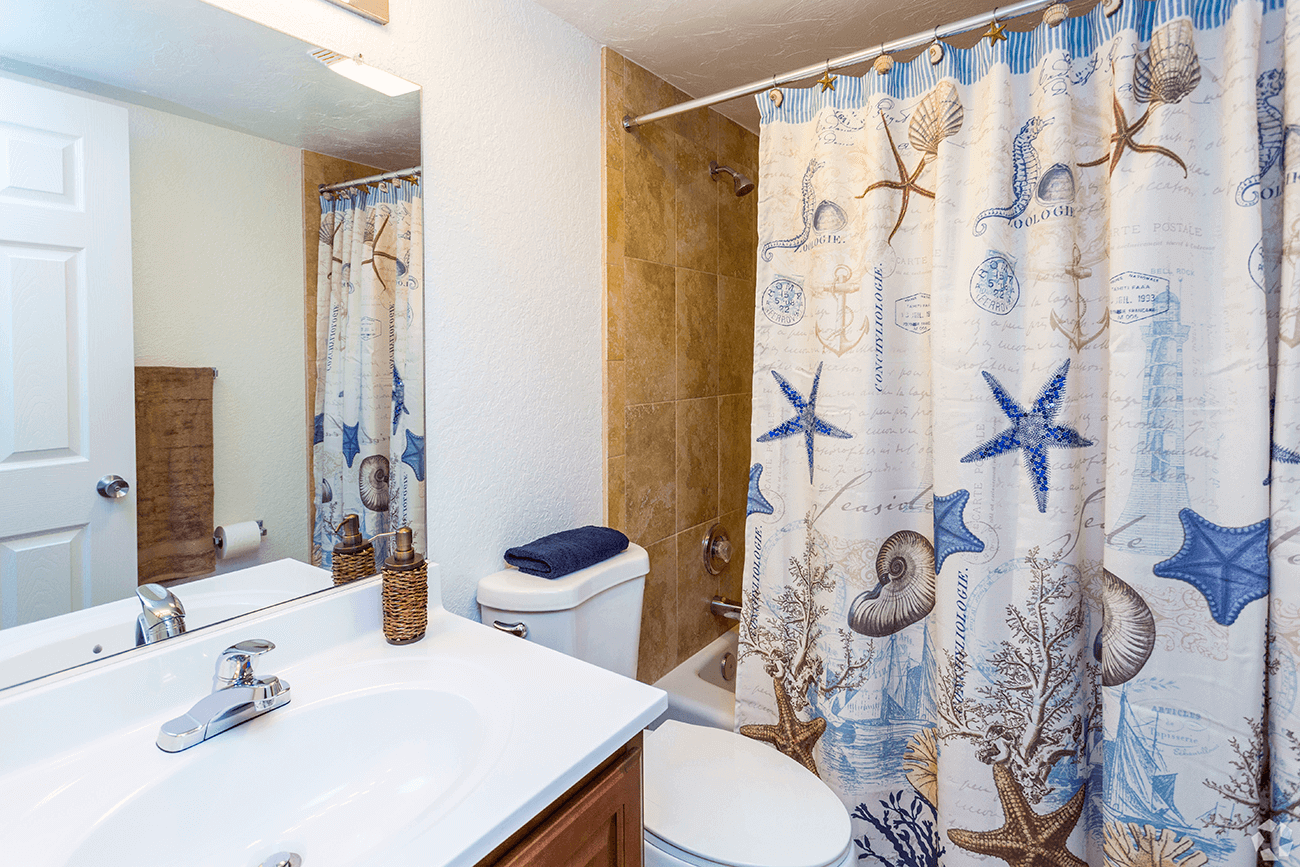 Beautiful ceramic tile baths available in select homes