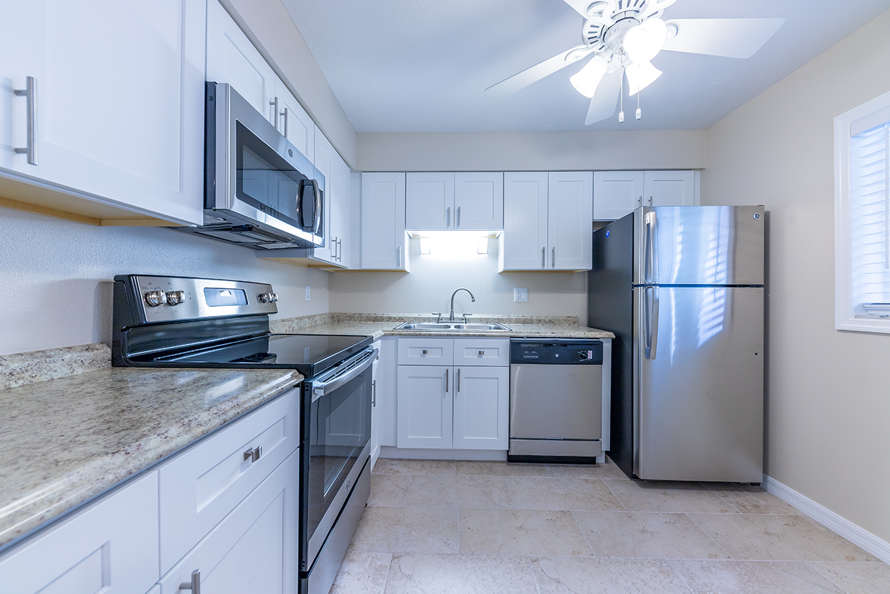 Stainless steel appliances available in select homes