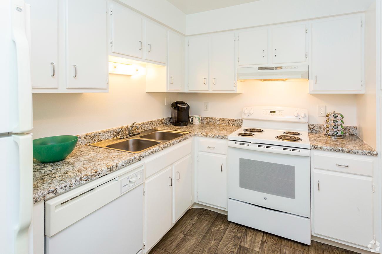 Wood-look laminate flooring in select homes