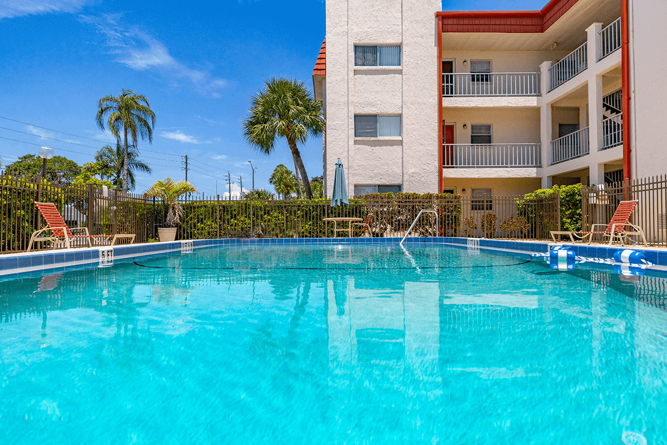 Three property swimming pools for convenient pool access no matter which building you call home